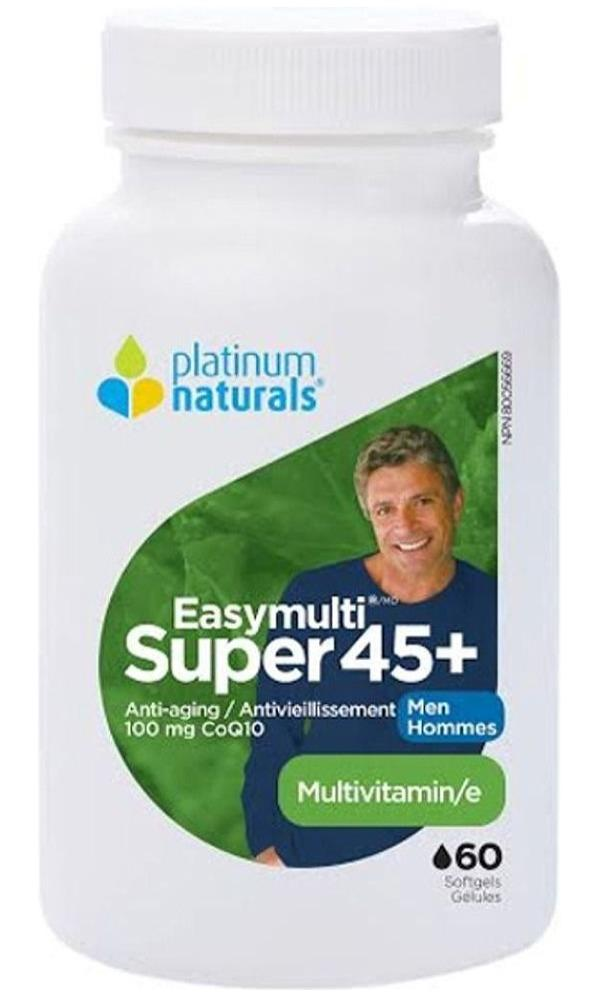 PLATINUM Super EasyMulti 45+ for Men  (60 sgels)