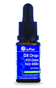 CANPREV D3 Drops Kids 400IU - MCT base (15 ml)