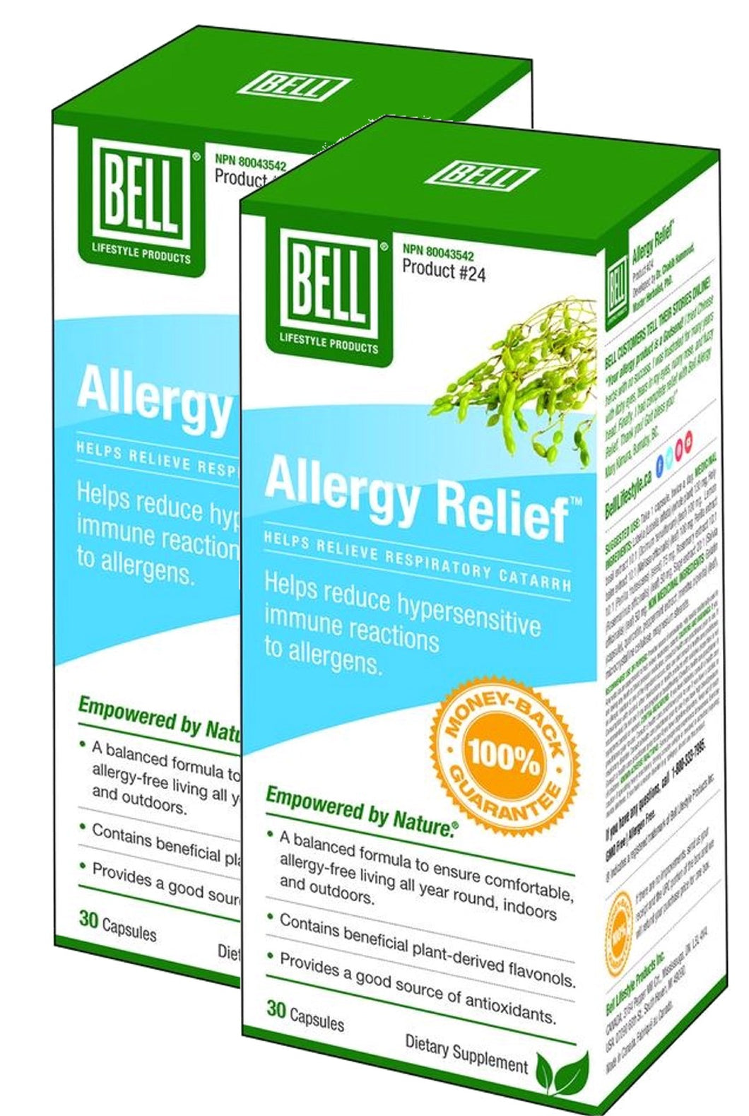 BELL Allergy Relief  (30 Caps) 2-Pack