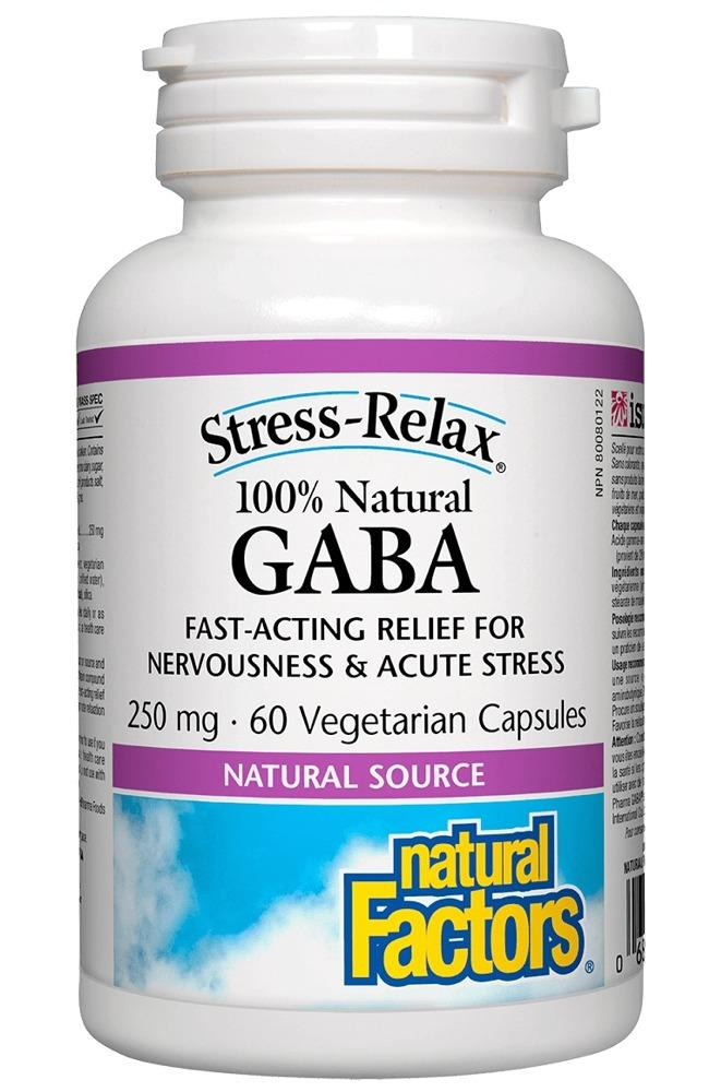 NATURAL FACTORS Gaba (250 mg - 60 veg caps)