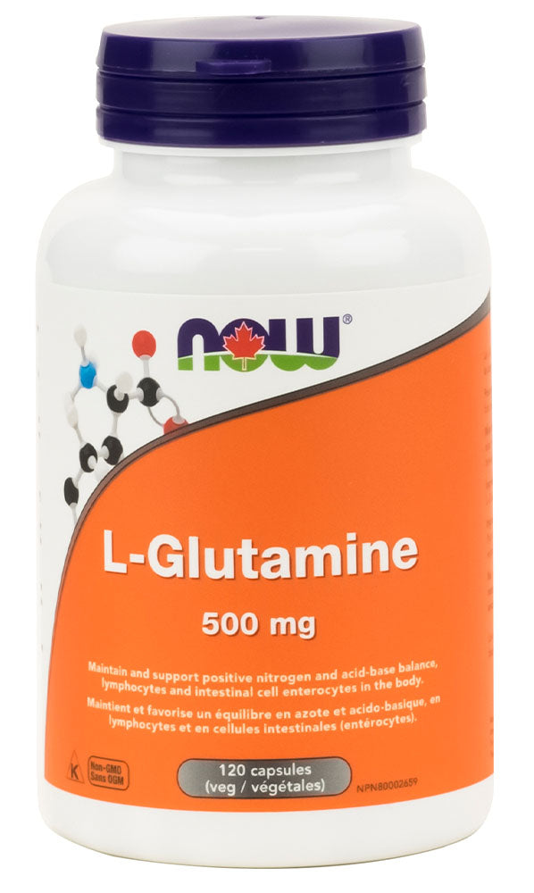 NOW L-Glutamine (500 mg - 120 caps)