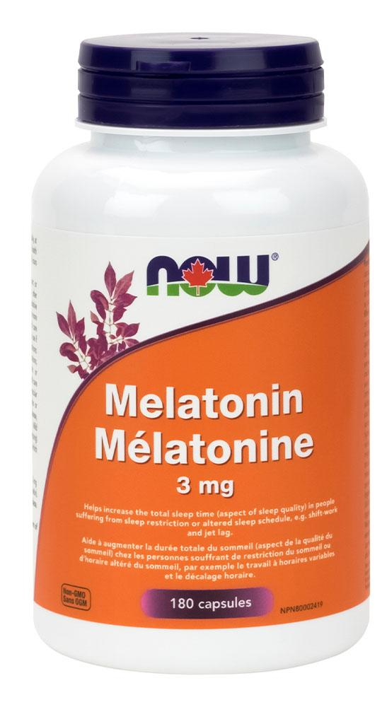 NOW Melatonin (3 mg - 180 caps)