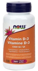 NOW Vitamin D3 (1000 iu - 360 sgels)