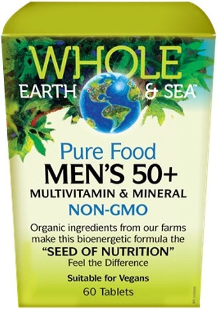 WHOLE EARTH & SEA Mens Multi & Mineral 50 + (60 tabs)
