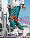 Teal Orange 'Denial' Joggers M2M Pants - Madness 2 Magic -Bottoms