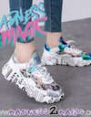 Blue Holographic 'Madness 2 Magic' M2M Iridescent Sneakers - Madness 2 Magic -Kicks