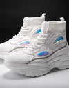 'Ankle Sock' Holographic M2M White Platform Chunky Sneakers - Madness 2 Magic -Kicks