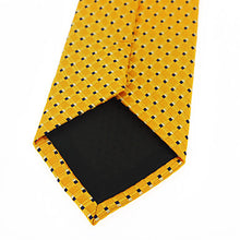 Load image into Gallery viewer, Men's Yellow Polka Dot Necktie