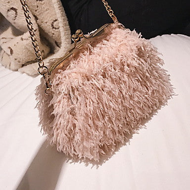 Women's Faux Fur Crossbody Bag