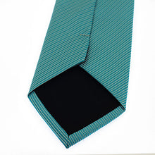 Load image into Gallery viewer, Men's Torquoise Striped Necktie