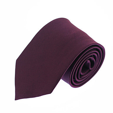 Men's Evening Skinny Burgundy Necktie