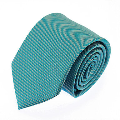 Men's Torquoise Striped Necktie