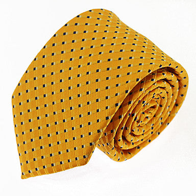 Men's Yellow Polka Dot Necktie
