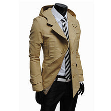 Load image into Gallery viewer, Modern Trench Coat with Hoodie