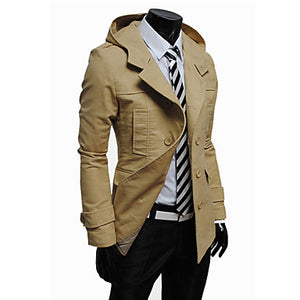 Modern Trench Coat with Hoodie