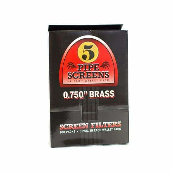 0.750 Brass Screen Filters 5pc 100ct - BG Sales