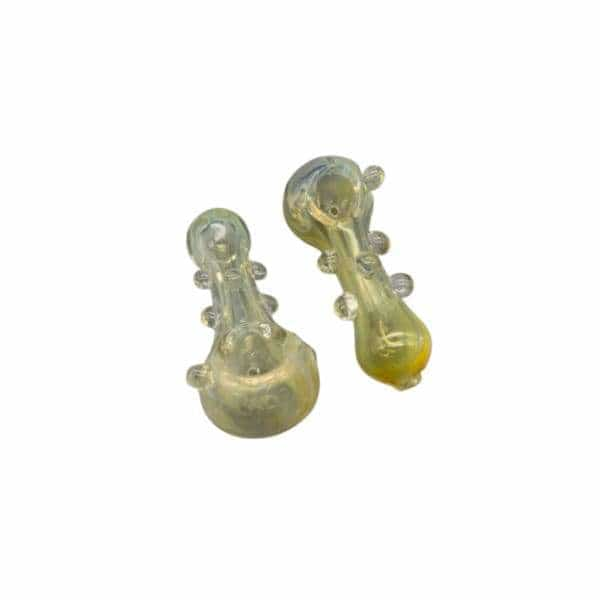 "3.5"" Fumed Glass Hand Pipe 