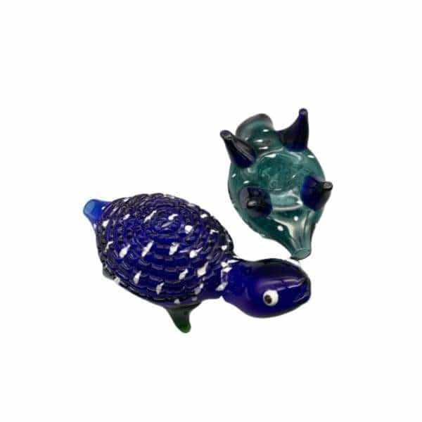 "6"" Turtle Glass Hand Pipe - BG Sales"