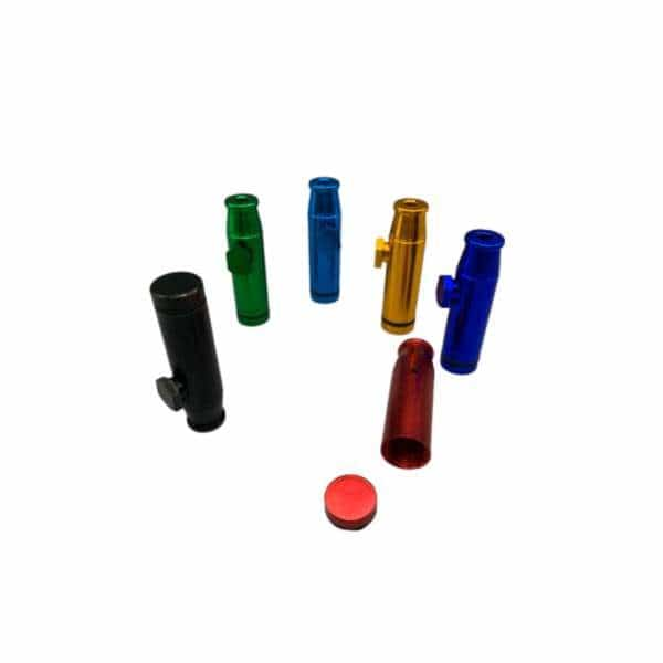 Anodized Snuff Bullet Metal Hand Pipe | bg-sales-1.