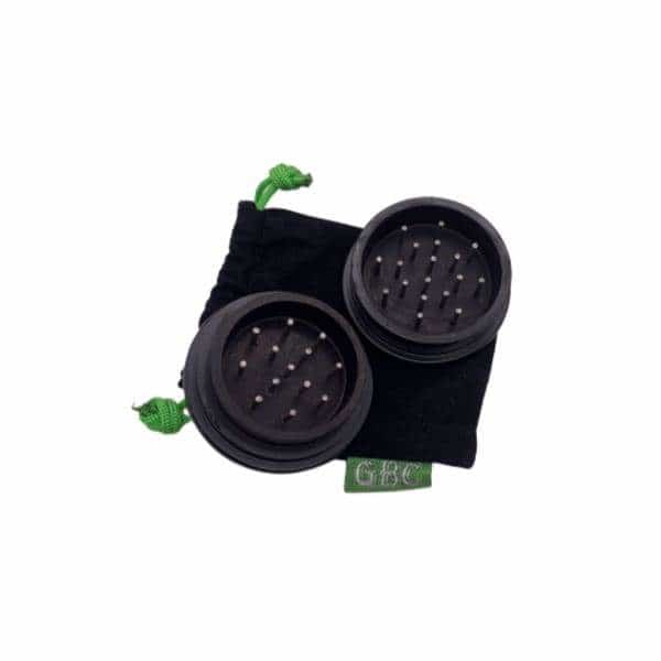Black Metal 2pc Grinder - BG Sales (4240412704850)