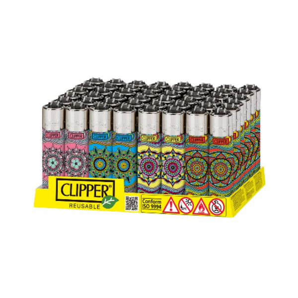 Clipper Mandala Design Lighter - 48ct
