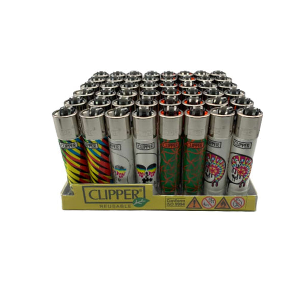 Clipper Psychedelic Lighter - 48ct