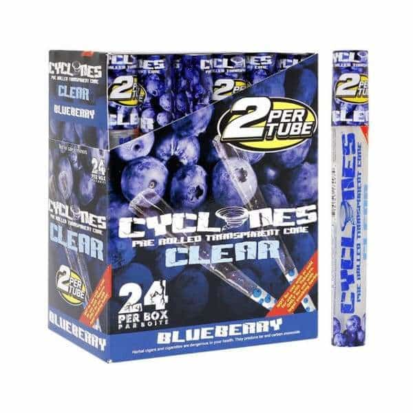 Cyclone Clear Blueberry Cones - BG Sales