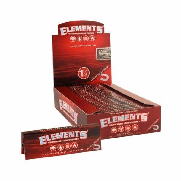Elements Red Hemp 1 1/4 Papers - BG Sales
