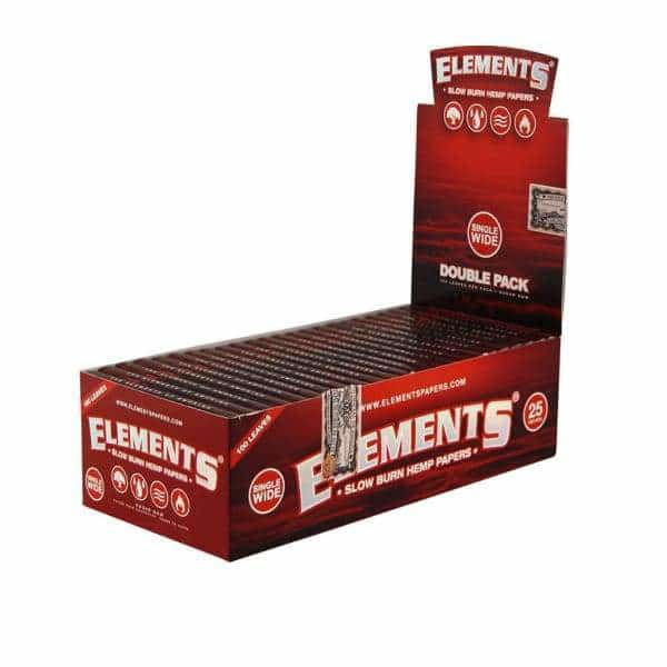 Elements Red Slow Burn Hemp Single Wide - BG Sales (4029680156754)