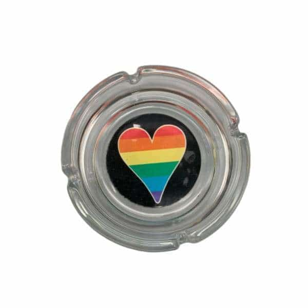 Glass Big Heart Pride Ashtray - BG Sales (4448888291460)