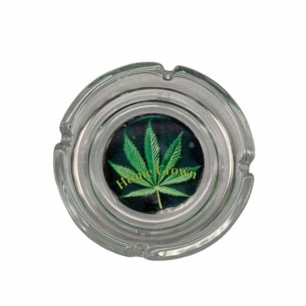 Glass Home Grown (Hemp Leaf) Ashtray - BG Sales (4448838123652)