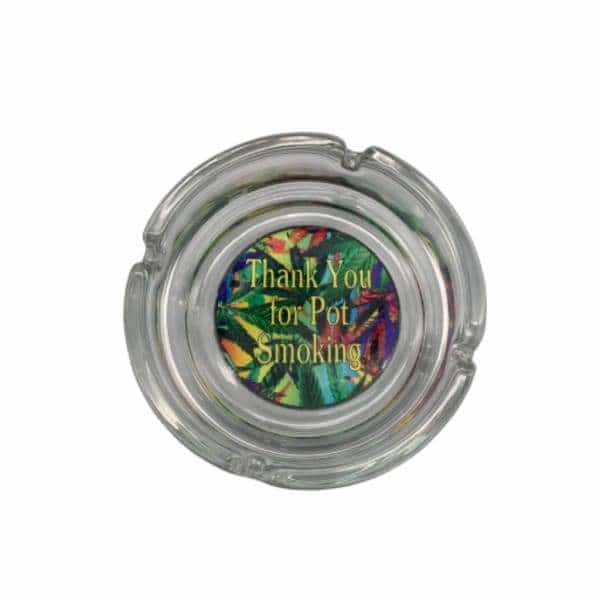 Glass Thank You Smoking Ashtray - BG Sales (4448859160708)