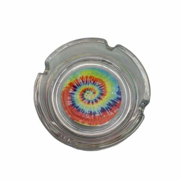 Glass Tye Dye Ashtray - BG Sales (4448915390596)
