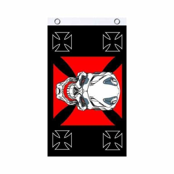 Iron Skull Fly Flag - BG Sales (4540826550404)