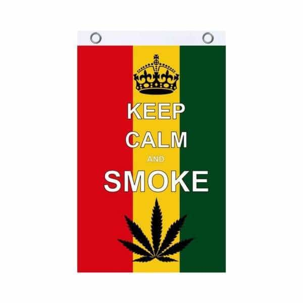 Keep Calm Smoke On Fly Flag - BG Sales (4540828090500)