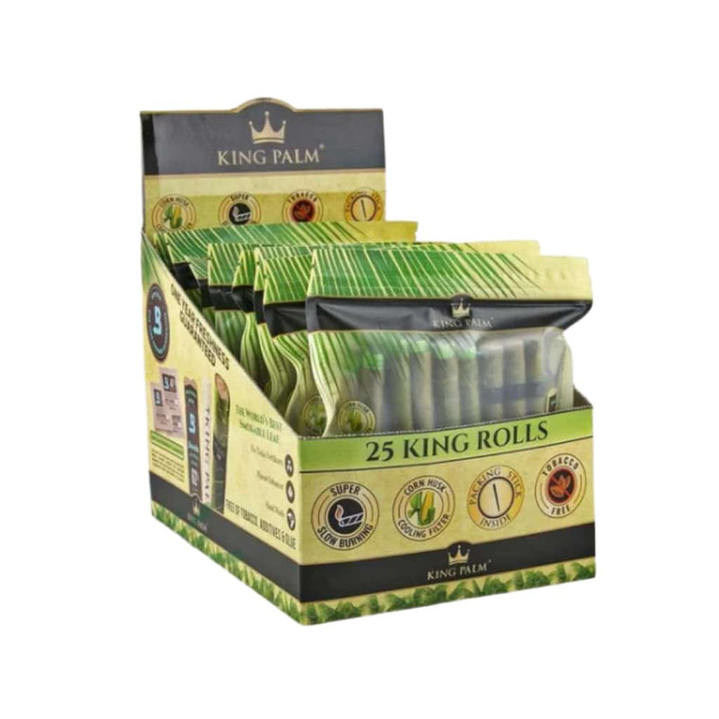 King Palm King Size 25 Pack - 8ct Display - BG Sales