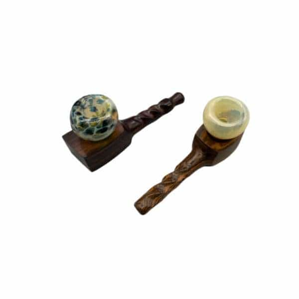 Mill H-5 Wooden Pipe Glass Bowl - BG Sales