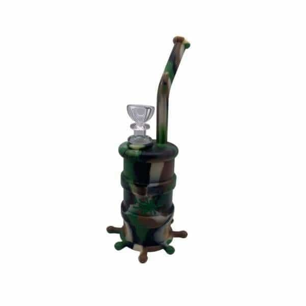 No Goo Silicone Barrel Bubbler Pipe - BG Sales (4169094463570)