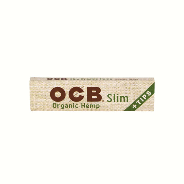 OCB Organic Hemp Slim Papers + Tips - 24ct | bg-sales-1.