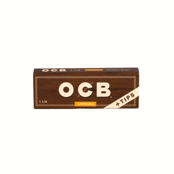 "OCB Virgin 1 1/4"" Papers + Tips - 24ct 
