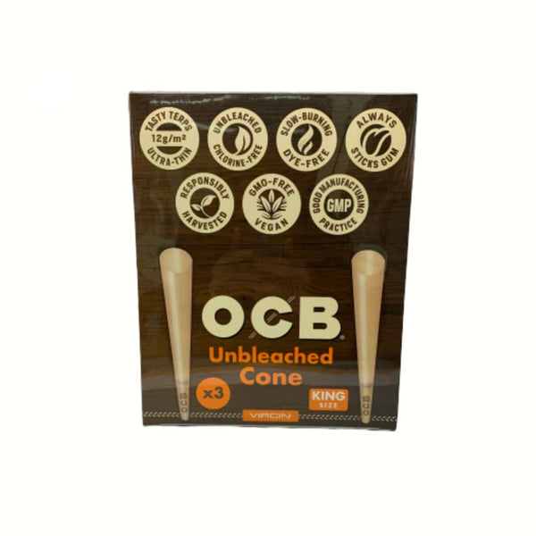 OCB Virgin King Size Unbleached Cones | bg-sales-1.