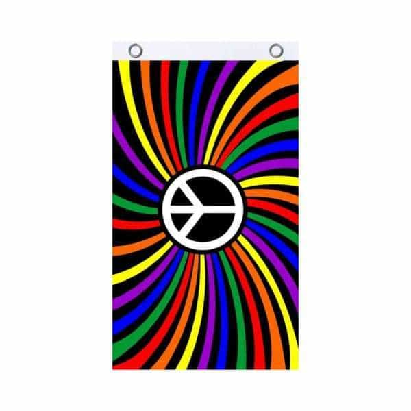 Rainbow Peace Fly Flag - BG Sales (4540842049668)