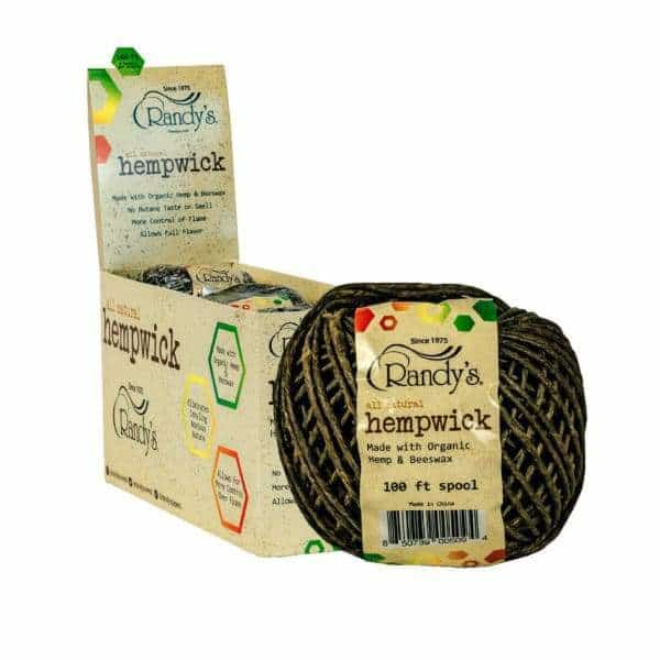 Randy's Hemp Wick 100ft Spool - BG Sales (4353715077252)