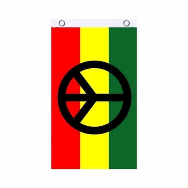 Rasta Peace Fly Flag - BG Sales (4540846211204)