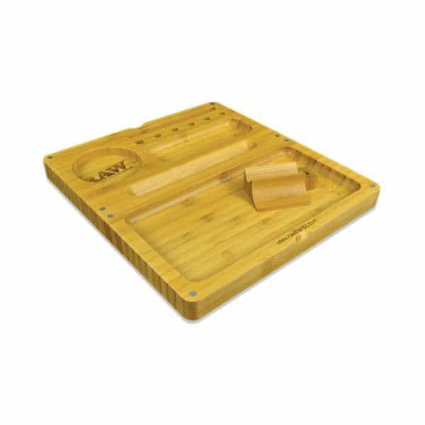 RAW Back Flip Bamboo Rolling Tray