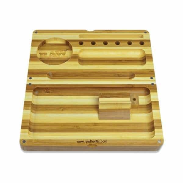 RAW Back Flip Striped Bamboo Rolling Tray | bg-sales-1.