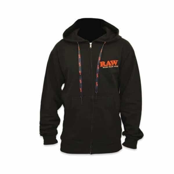 RAW Black Zipper Poker Hoodie | bg-sales-1.