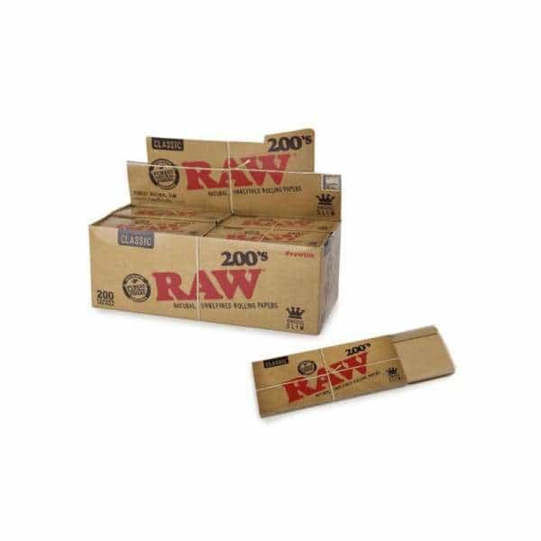 RAW Classic Creaseless Kingsize Slim 200's - BG Sales