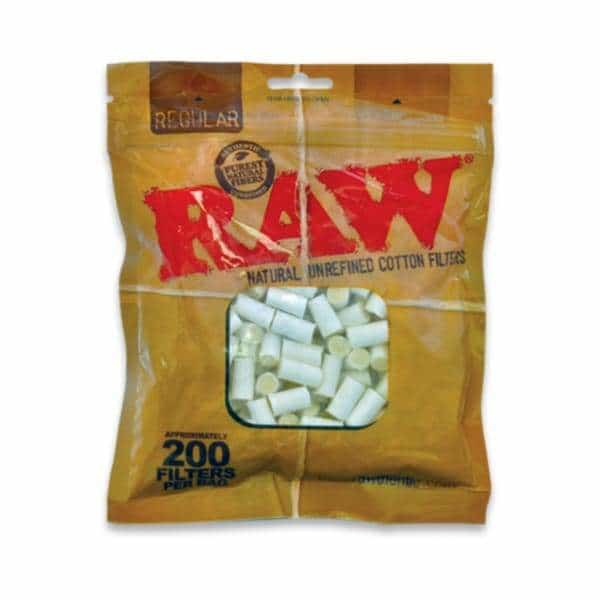 RAW Pure Cotton Filters 200ct - BG Sales