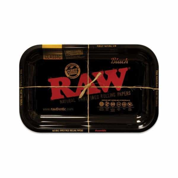 RAW Small Black Rolling Tray | bg-sales-1.